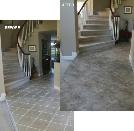 Real Customer Homes 03 Before And After Tile Laminate